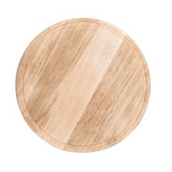 Assiette / Planche à pizza avec rainure à jus - Ø 260 mm - Bois