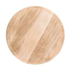 Assiette / Planche à pizza avec rainure à jus - Ø 380 mm - Bois