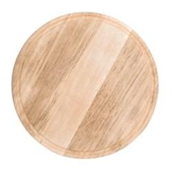Assiette / Planche à pizza avec rainure à jus - Ø 300 mm - Bois