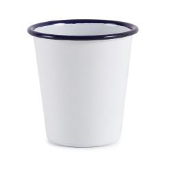 Gobelets  - Acier émaillé - 310 ml - Couleur blanc et bleu  - Olympia Enamel - Lot de 6