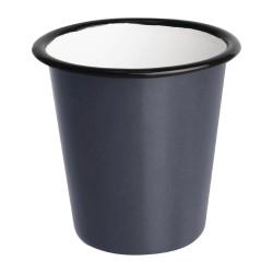 Gobelets  - Acier émaillé - 310 ml - Couleur gris et noir - Olympia Enamel - Lot de 6