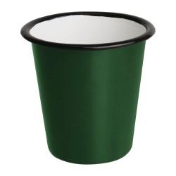 Gobelets  - Acier émaillé - 310 ml - Couleur vert et noir - Olympia Enamel - Lot de 6