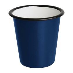 Gobelets  - Acier émaillé - 310 ml - Couleur bleu et noir - Olympia Enamel - Lot de 6