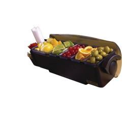 Boîte à compartiments - 5 x 550 ml - Dôme - Préparation boissons - Bar - San Jamar