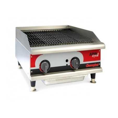 Grill charcoal gaz avec radiants - largeur 457mm