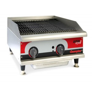 Grill charcoal gaz avec radiants - largeur 1220mm