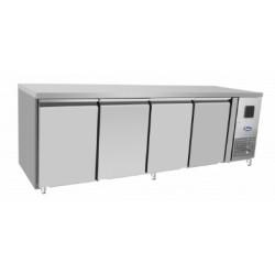 Table réfrigérée négative - Tropicalisée - GN 1/1 - Garantie 2 ans - 560 L. - 4 portes - 2230 (L) x 700 (P) mm - Classe T