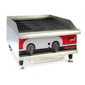 Grill charcoal gaz aux pierres de lave - largeur 915mm