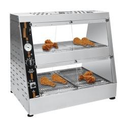 Vitrine chauffante poulet 1155 mm+ récipient  à eau 2 étages