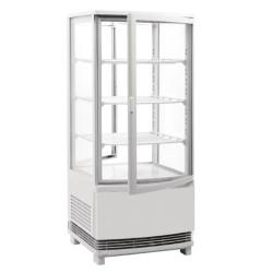 Vitrine réfrigérée panoramique - 86 L. - Paiement 4X - Garantie 2 ans - Inox - Classe N