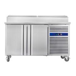 Meuble pizza - ECO - 390 L. - 4 x GN 1/3 + 2 x GN 1/2 - Sur roulettes - 600 x 400 - Paiement 4X - Classe T