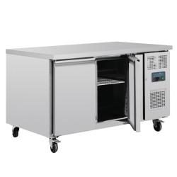 Table réfrigérée - 385 L - 400 x 600 - 2 compatiments / 4 portes - Classe N
