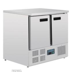 Table réfrigérée positive - GN 1/1 - Garantie 2 ans - 240 L - 2 portes - 900 (L) x 700 (P) - Classe N