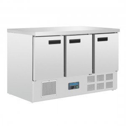 Table réfrigérée positive - GN 1/1 - Garantie 2 ans - 368 L - 3 portes - 1370 (L) x 700 (P) mm - Classe N