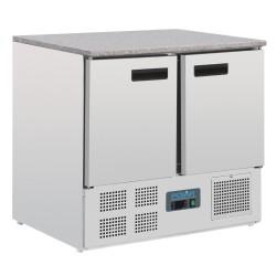 Table réfrigérée positive - GN 1/1 - Garantie 2 ans - 240 L - 2 portes - 900 (L) x 700 (P) mm - Classe N