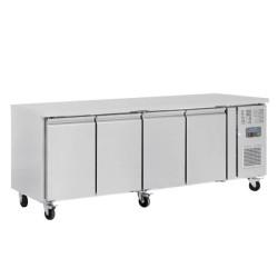 Table réfrigérée positive - Tropicalisée - Garantie 2 ans - 449 L. - 4 portes - 2230 (L) x 600 (P) mm - Classe T