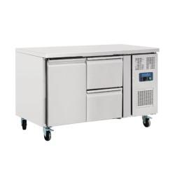 Table réfrigérée positive - GN1/1 - Garantie 2 ans - 228 L - 1 porte + 2 tiroirs - 1360 (L) x 700 (P) mm - Classe T