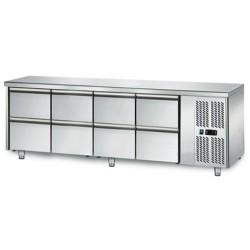 Table réfrigérée positive - GN1/1 - 421 L - 8 tiroirs - 2230 (L) x 700 (P) mm - Classe N