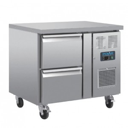 Table réfrigérée positive - GN1/1 - Garantie 2 ans - 124 L - 2 tiroirs - 925 (L) x 700 (P) mm - Classe ST