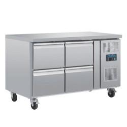 Table réfrigérée positive - GN 1/1 - Garantie 2 ans - 314 L - 4 tiroirs - 1360 (L) x 700 (P) mm - Classe T