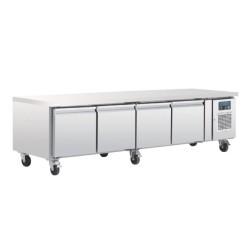 Soubassement réfrigéré - Tropicalisé - 4 portes - GN1/1 - 420 L. - 2230 (L) x 700 (P) mm - Classe T