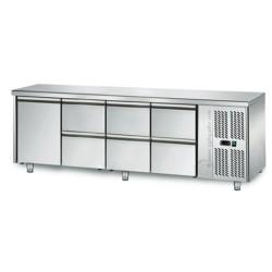 Table réfrigérée positive - GN 1/1 - 421 L - 1 porte + 6 tiroirs à droite - 2230 (L) x 700 (P) mm - Classe N