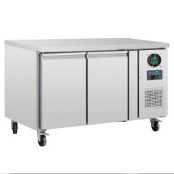 Table réfrigérée négative - GN 1/1 - Garantie 2 ans - 282 L. - 2 portes - 1360 (L) x 700 (P) mm - Classe N