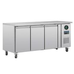 Table réfrigérée négative - GN 1/1 - Garantie 2 ans - 417 L. - 3 portes - 1795 (L) x 700 (P) mm - Classe N