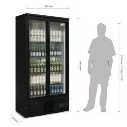 Armoire réfrigérée vitrée positive - 490 L. - Paiement 4X - Inox - Garantie 2 ans - 490 L - Classe N