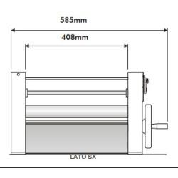 Laminoir manuel - 400 mm - Boulangerie