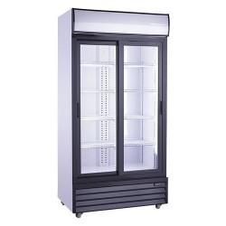 Armoire réfrigérée vitrée positive - 630 L. - Paiement 4X - Inox - Garantie 2 ans - Classe N