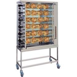 Rôtissoire ROTISOL à poulets gaz, 6 broches/ 36 poulets, sur roues