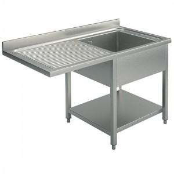 Plonge 1 bac 1 égouttoir gauche 1400 x 700 pour un lave vaisselle