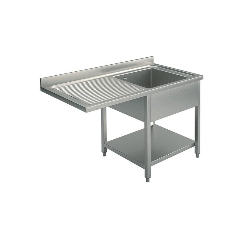 plonge 1 bac 1 gouttoir gauche 1400 x 700 mm pour un lave. Black Bedroom Furniture Sets. Home Design Ideas