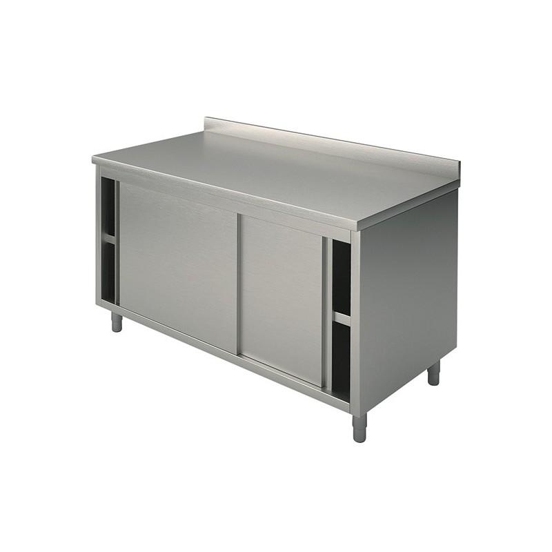 Meuble bas inox portes coulissantes 1800 x 700 x 850 gastromastro group sas - Meuble bas inox ...