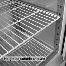 Armoire réfrigérée positive - GN 2/1 - Paiement 4X - 1200 L. - Inox - Garantie 2 ans - Classe N
