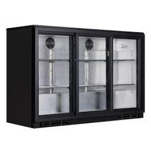 Arriere-bar refrigeree 3 portes vitres coulissantes