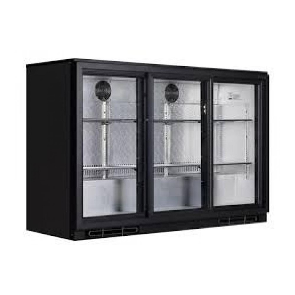 arriere bar refrigeree 3 portes vitres coulissantes. Black Bedroom Furniture Sets. Home Design Ideas