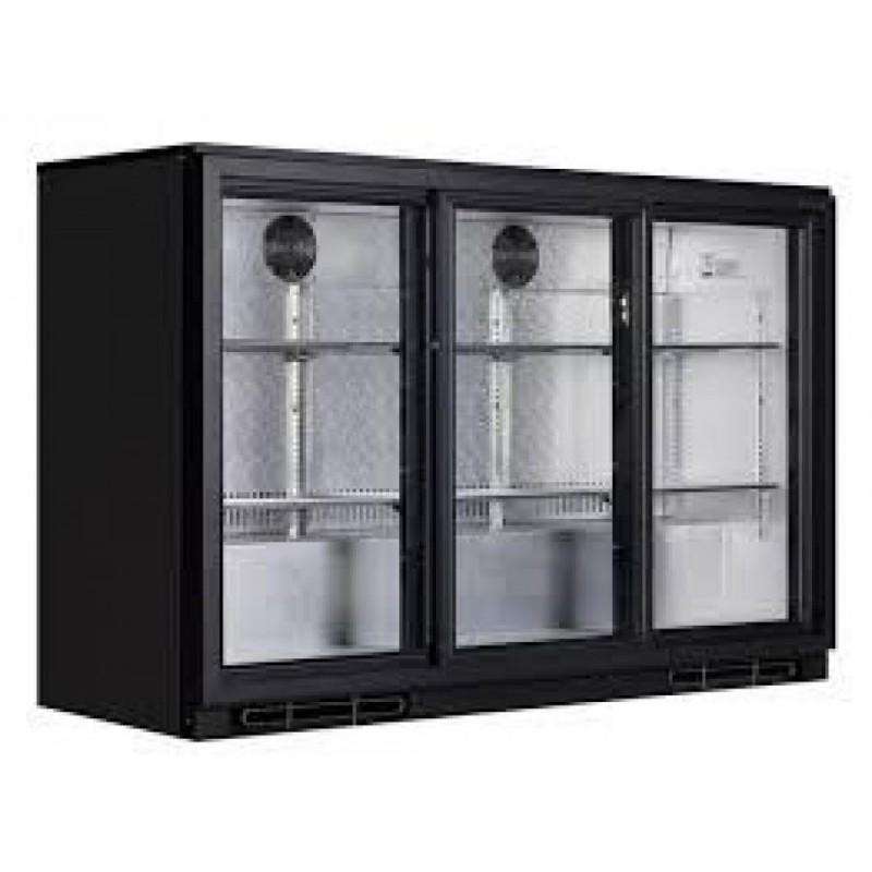 Arriere bar refrigeree 3 portes vitres coulissantes for Porte vitree pour meuble