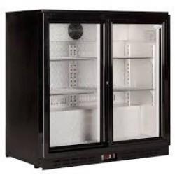 Meuble Arriere-bar refrigerée 2 portes coulissantes