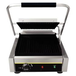 Appareil à Panini  professionnel  simple acier- Machine à Panini Large- thermostat réglable  jusqu'à 300°C