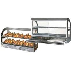 Vitrine exposition chauffante 24 poulets