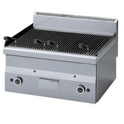 Grill pierre de lave gaz, grille de cuisson en fonte -Top-