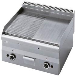 Plaque de cuisson gaz 1/2 lisse et 1/2 rainurée -Top