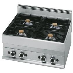 Cuisinière gaz 4 feux vifs -Top-