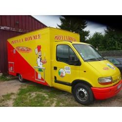 Camion pizza à four gaz