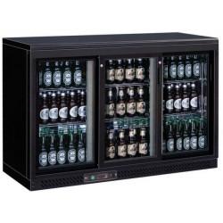 Arrière-bar réfrigéré - 3 portes vitrées coulissantes - 335 litres - Garantie 2 ans - Classe N