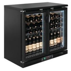 Cave à vin professionnelle - 254 L. - 56 bouteilles - Portes coulissantes double vitrage