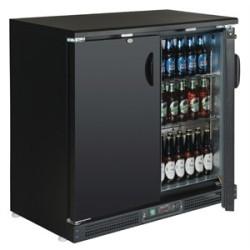 Arrière-bar réfrigérée 2 portes pleines- Desserte de bar portes battantes ventilée