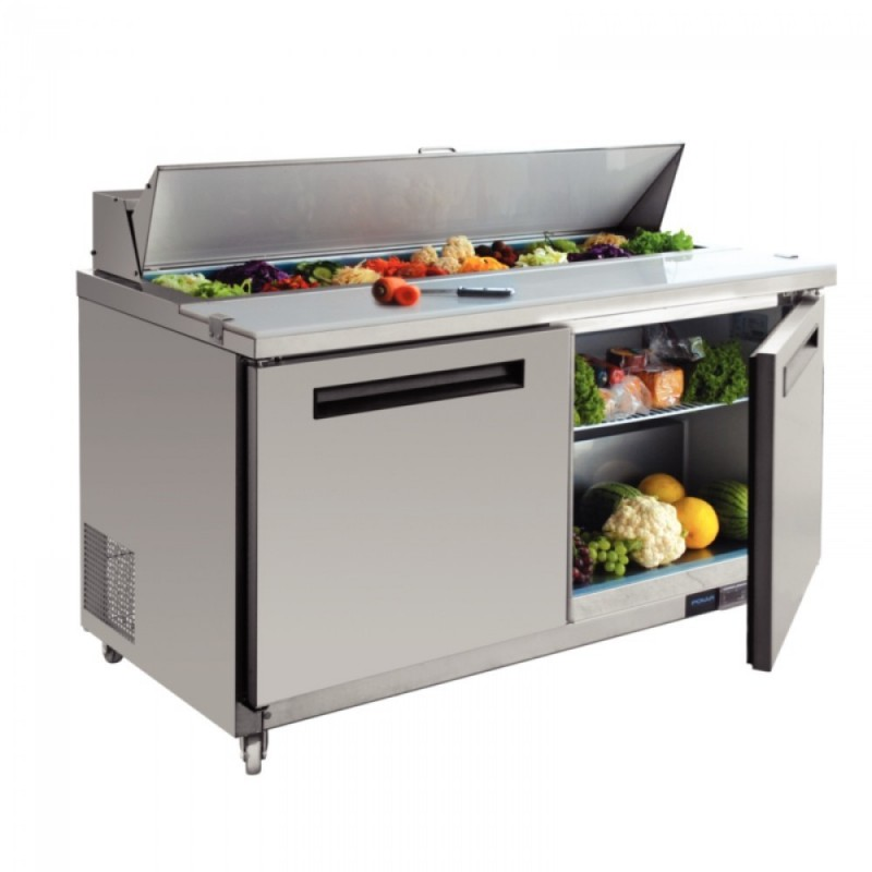 Saladette inox refrigeree 2 portes 527 litres 16 bacs 1 6 - Direct equipement cuisine nobilia ...